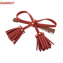 Trendy Style 2017 New Personality Tassel Pendant Bow Duckbill Clip Hairpin Hair Clips Hair Accessories 1PC_U00442