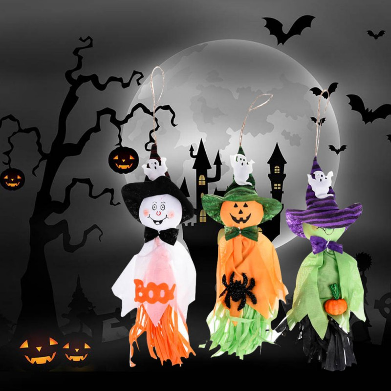 Festive & Party Supplies Ambitious Halloween Pumpkin Witches Pendant Props Trick Or Treat Toy Decoration Ghost Hanging Ornaments Bar Horror Small Cloth