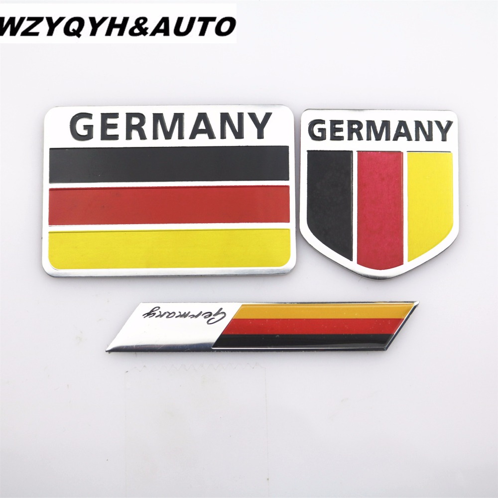 Car Styling Germany Flag Car Stickers And Decals 3D Stickers Logo Full Boday Emblem Badge Auto Accessories For all car 1 pair door protector anti collision canada flag emblem 3d car stickers creative car styling automobile accessories
