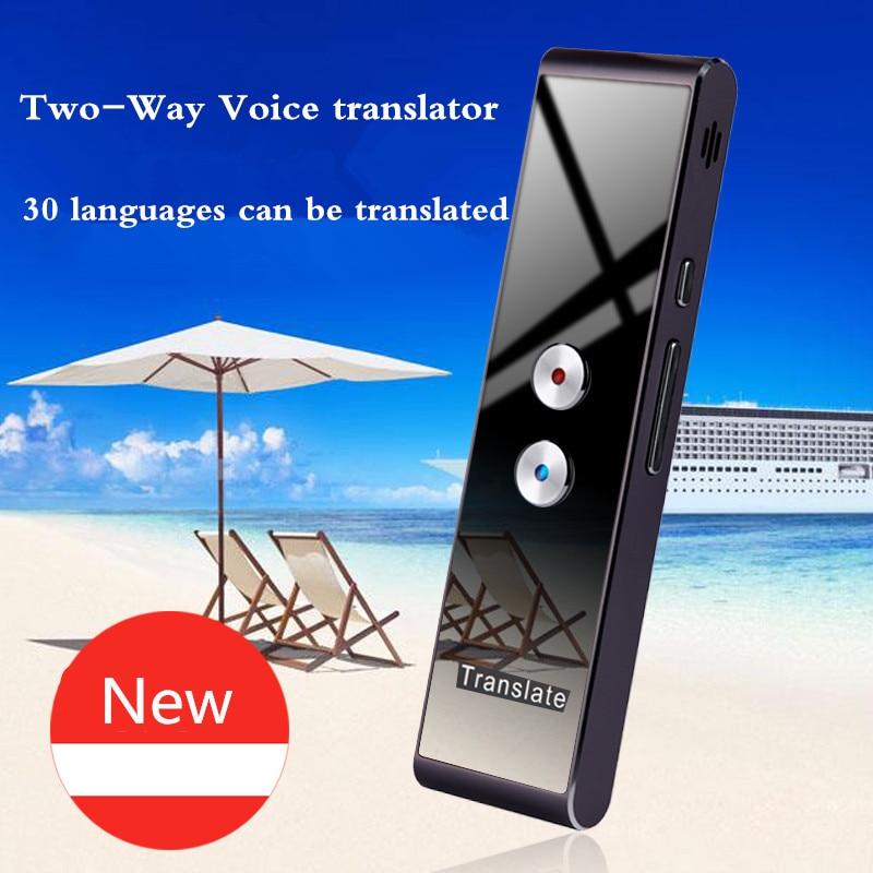 купить Two-Way Voice Translator translation machine 30 multi-language simultaneous translation intelligent portable interpreter по цене 3224.44 рублей