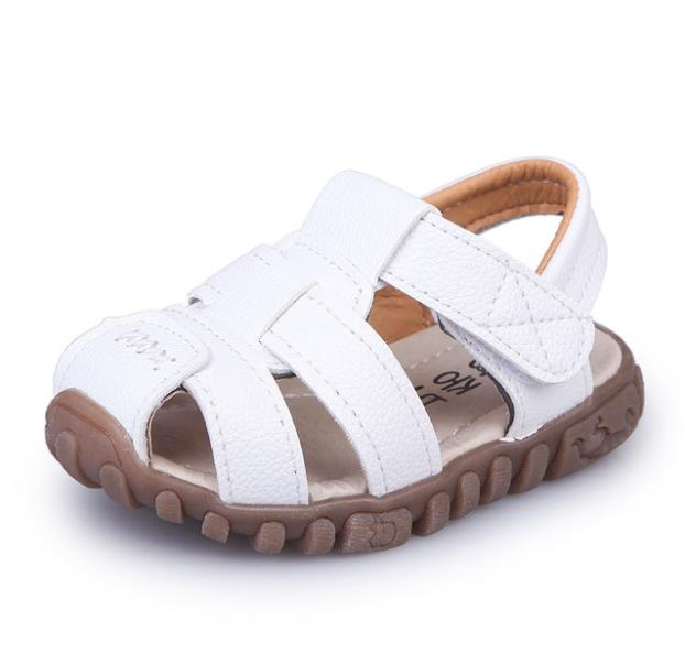 New Style Of Fashion Casual Boys Girls Sandal For Baby Shoes Anti-Slip Children Sandals GUINEA Brand White Black Summer shoes