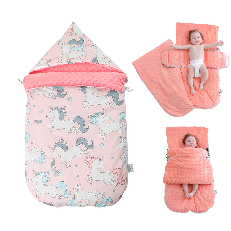 Warm Soft Cotton 3D Tactile Granules Sleeping Bag Stroller Bag Thickened Newborn Sleep Sack Winter Anti-kick Quilt Blanket