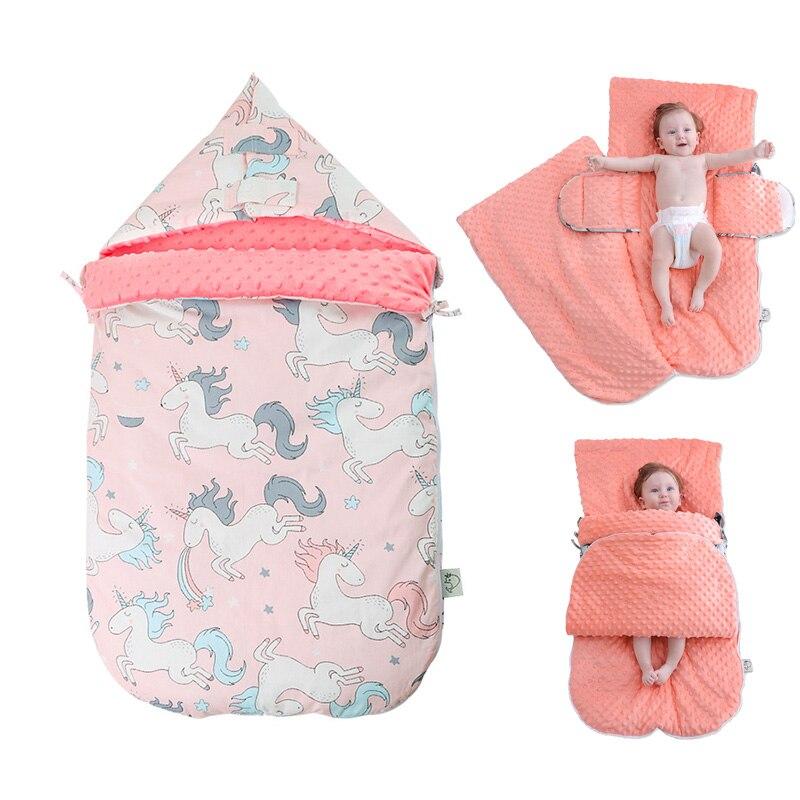 Warm Soft Cotton 3D Tactile Granules Sleeping Bag Stroller Bag Thickened Newborn Sleep Sack Winter Anti-kick Quilt Blanket