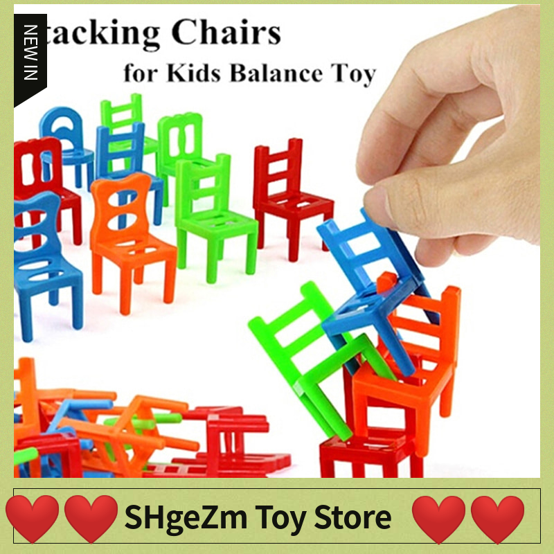 18Pcs/Set Balance Chairs Board Game Children Educational Balance Stacking Chairs Toys Kids Desk Puzzle Balancing Training Toys