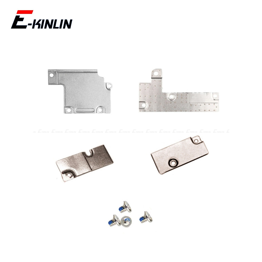 5Sets Cover Plate Holder Screw For iPhone 6 6S 7 8 Plus X XS Max Battery Lcd Touch Screen Flex Cable Metal Holder Bracket(China)