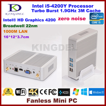 3 года гарантии Barebone PC Intel NUC i5-4200Y Dual Core Мини-безвентиляторный ПК Windows HTPC Mini-ITX Micro PC