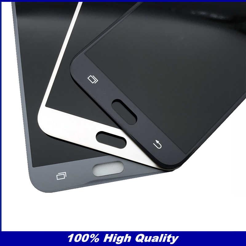 عالية الجودة كاملة محول الأرقام شاشات الكريستال السائل لسامسونج غالاكسي J7 J727 SM-J727P J727V J727A شاشة هاتف LCD قطع غيار للشاشة التي تعمل باللمس