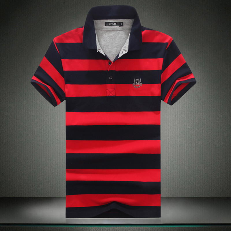 The European and American Style Mens   Polo   Shirt Classic Striped 6XL 5XL 2019 Summer Cotton   Polo   Shirts Short Sleeve #8813