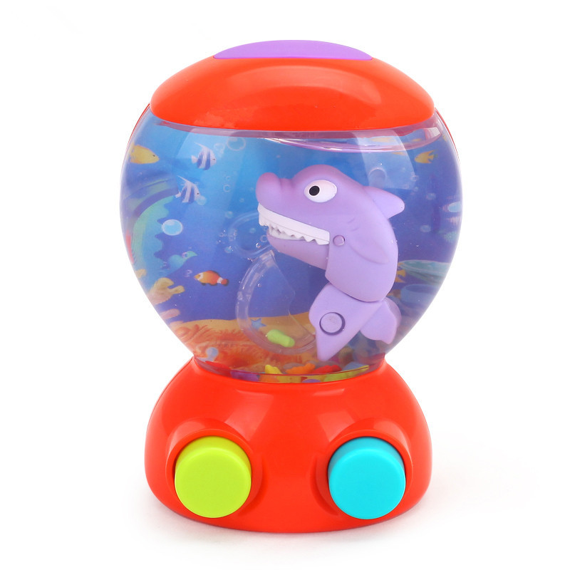 In Stock Baby Bath Toys for Children Kids Water Toys Shark Fish Hunt Toy Bathroom Game Play Set Early Educational Newborn Gift