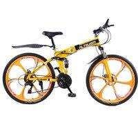 دراجة Altruism X9 26 بوصة بإطار من الألومنيوم قابلة للطي دراجات جبلية 21 سرعة قرص مكابح الرجل الطويل دراجة جبلية 6 ألوان-في الدراجات من الرياضة والترفيه على