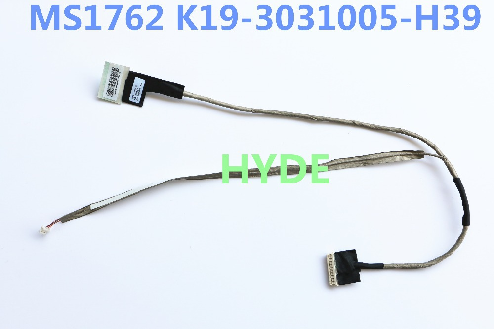 NEW MSI MS1762 K19-3031005-H39 LVDS CABLE FOR MSI GT70 GTX780 GTX670 GTX680 LCD LVDS CABLE laptop keyboard for msi ms 16f1 cx660 cx660r ms 16f2 gx680 gx680r ms 1671 gt780r gx780 gx780r black with frame sw swiss