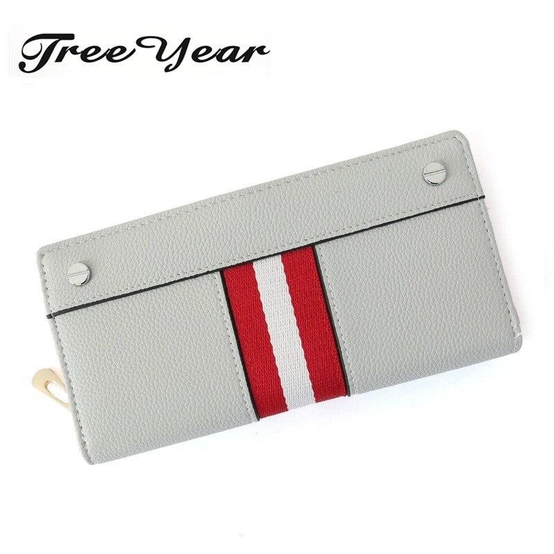 TreeYear Fashion Brand Clutch Large Capacity Money Purse Bag Women Purse Long Thread Wallet Female Zipper Wallet