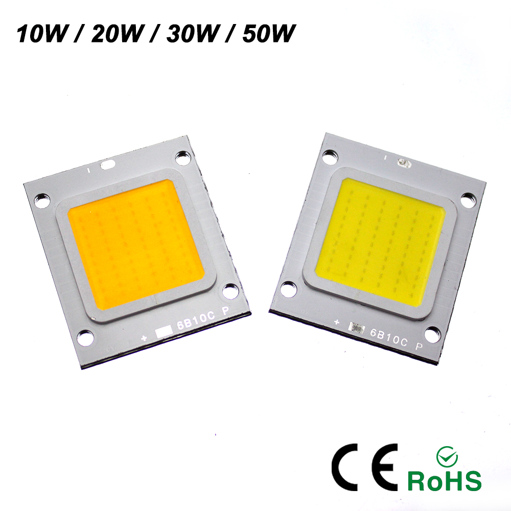 YNL Real Watt LED lamp 10W 20W 30W 50W outdoor lighting High Power Led Chip Cold Warm White For LED Flood light spotlight 1w led bulbs high power 1w led lamp pure white warm white 110 120lm 30mil taiwan genesis chip free shipping