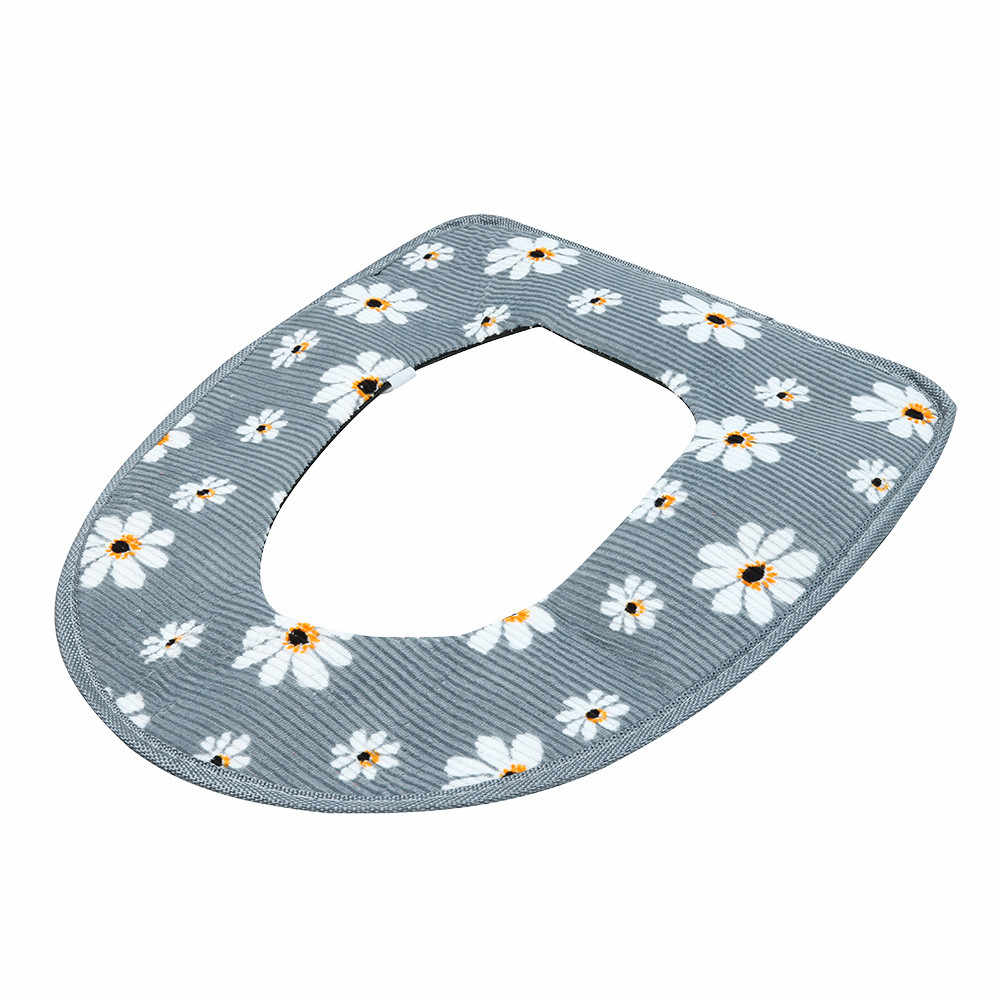 4 kolory łazienka cieplej deska klozetowa miska miękka taśma klejąca kwiat zmywalny pokrywa Pad wygodne/es