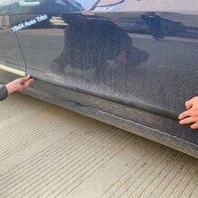 цена на Lapetus Car Styling Outside Door Body Molding Bottom Strip Cover Trim Fit For Tesla Model 3 2018 - 2020 Chrome Carbon Fiber Look