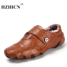 Big Size Genuine Leather Shoes Plush fur Loafers Crocodile skin Oxfords Casual Shoes for Men Fashion Zapatos Hombre Luxury Brand
