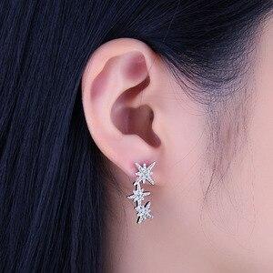 Image 4 - JewelryPalace כוכב מעוקב Zirconia עגילי חישוק 925 עגילי כסף סטרלינג לנשים קוריאני עגילי תכשיטים 2020