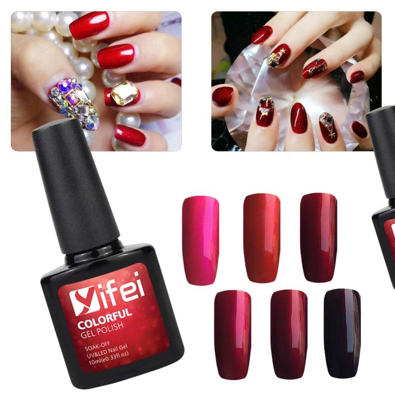 Mirror Effect Gel Nail Polish: YIFEI 1Pcs 10ml Mirror Red Effect Gel Nail Polish Manicure