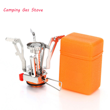 High Quality Outdoor 9.5x9.5cm Gas Stove Camping burner Folding Electronic hiking Portable Foldable Split Stoves 3000W