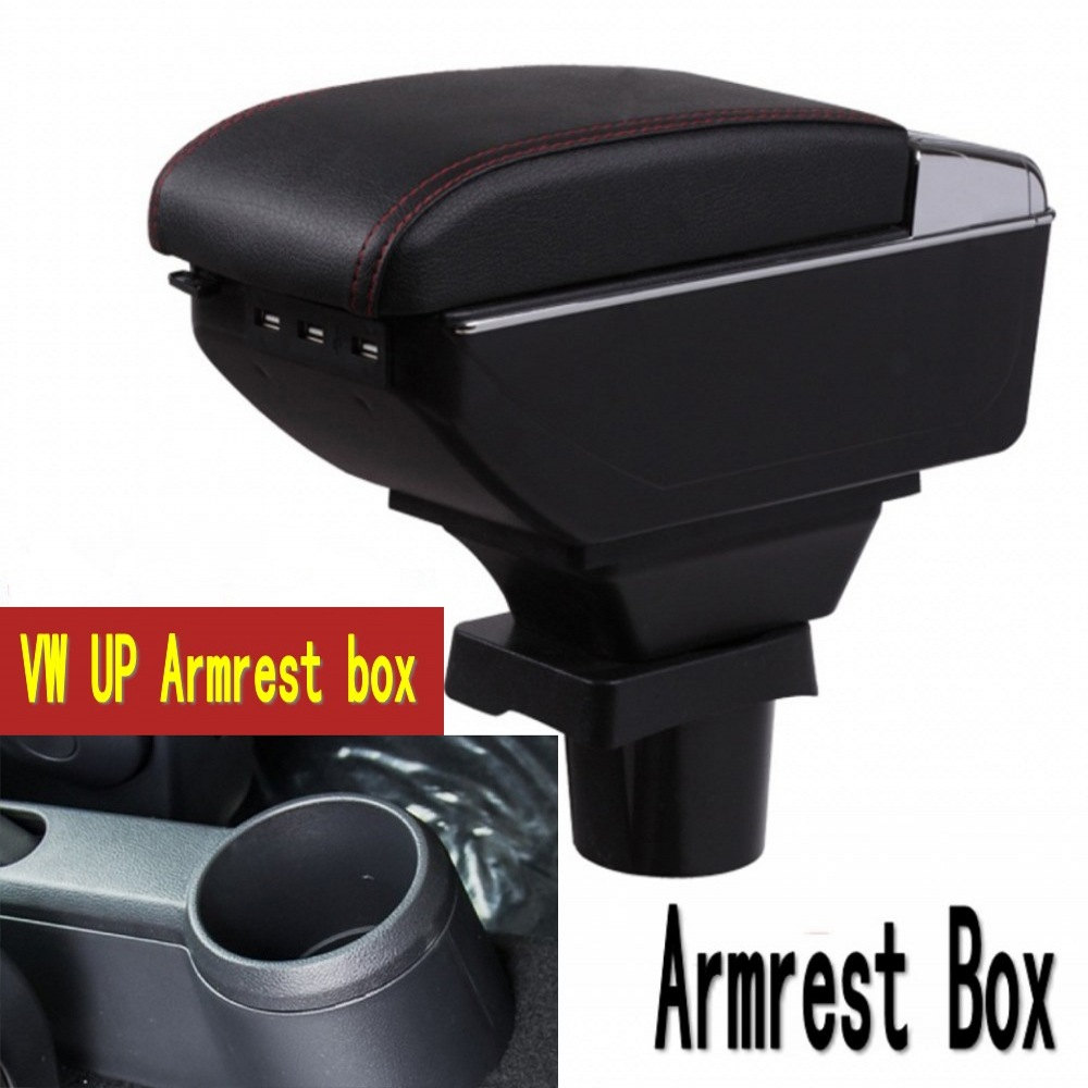 For UP Armrest box Auto Stroage Car Interior Parts Center Console Armrest Box leather car interior parts center console armrest box for nissan kicks 2016 2017 2018 auto armrests storage with usb