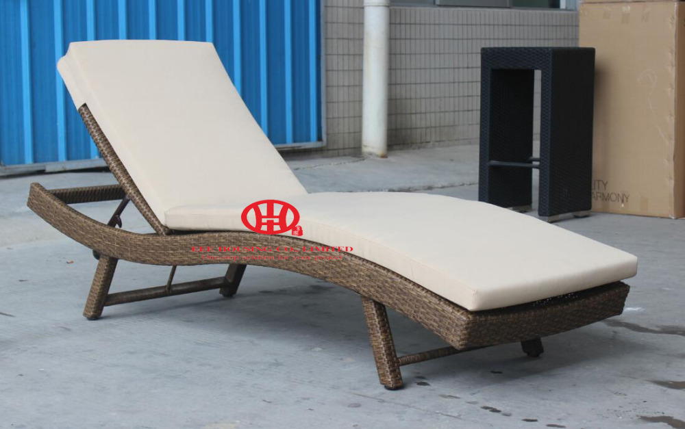 Modern Elegant Wicker Outdoor Furniture Cheap Patio Garden Rattan Chaise Lounge