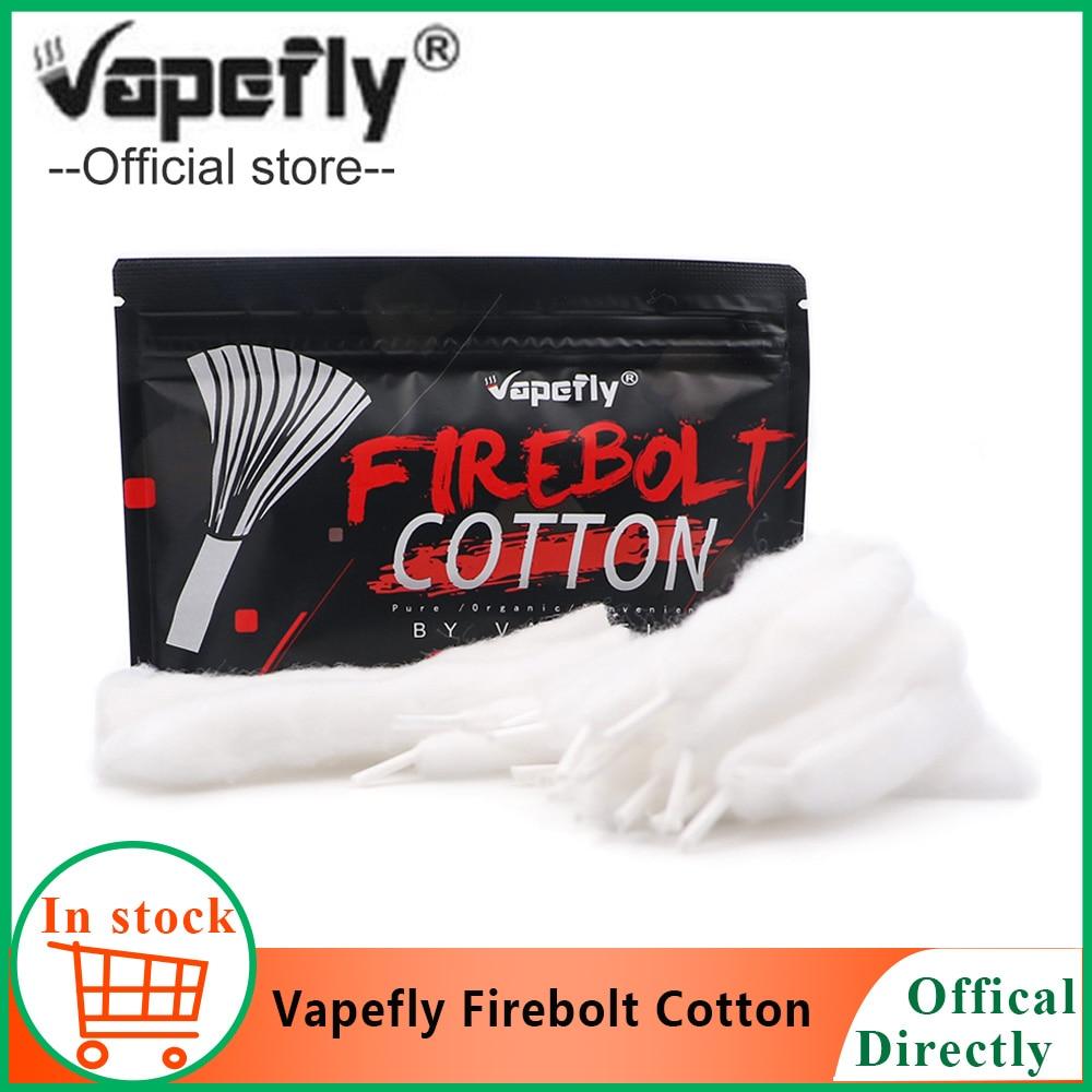 20pcs/pack Vape Accessories Vapefly Firebolt Cotton Vape Cotton For DIY RDA RBA Atomizer Coil Wick Pre-loaded Organic Cotton