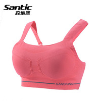 SANTIC Women Sport Cycling Base Layers Yoga Running Underwear Seamless Bra Without Steel Ring Campaign vest fitness Lingerie