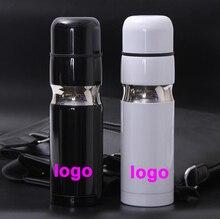 Потрясающий идеальный подарок CC брэндинг термос бутылка для воды 500 мл Высокое качество из нержавеющей стали Хорошая термоусадочная колба чашка термос