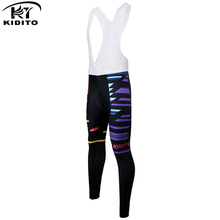 KIDITOKT Cycling Pro Bib Pants 2018 Women sports Winter Super Warm Thermal Fleece MTB Bike Team Tights & Pants With 3D Gel spexcel high quality pro team winter thermal fleece cycling bib pants bicycle tights road mtb cool cycling gear with back pocket