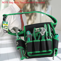 LAOA Tool Bag Tool Pouch for Electrician Tool Telecommunication Kit Storage Bag Repair Tools Pouch with Waist Belt