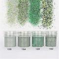 4 Boxes   Nail Glitter Green Dazzling Super Matte Powder Sheets Tips Design Nail Art Decoration Nail Art Glitter