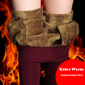 {Guoran} invierno Cálido Femme Pantalon Plus Tamaño de Cintura Alta de Las Señoras Strech Lápiz Pantalones Flacos Delgados Pantalones Femeninos Pantalones Con Forro Polar caliente