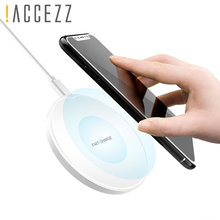 !ACCEZZ Qi Wireless Charging For iPhone X 8 Plus 10 5W Samsung Galaxy S9 S8 Note 5  Ultra-thin Round Charger