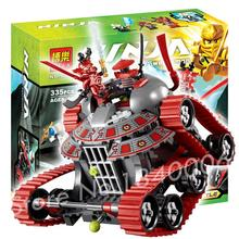 335pcs Bela 9794 Phantom Ninja Garmatron Building Sets Educational DIY Construction Bricks Gift Toys Compatible with Lego