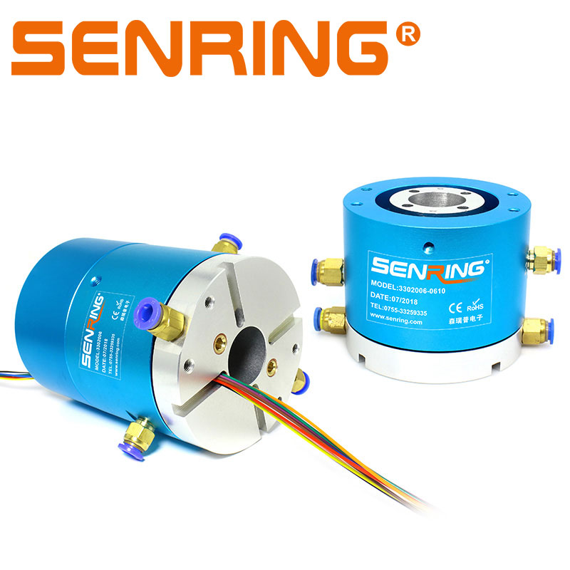 Hole Bore 30mm Slip Ring 2 Passages Rotary Union 6 12 Wires Electrical Sliprings 2A 5A