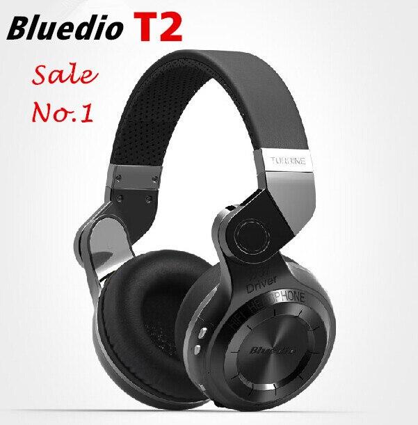 Новые 100% оригинал Bluedio Т2 Турбо-мода Беспроводные bluetooth стерео наушники гарнитура с микрофоном 4.1 шума высокое качество низких частот