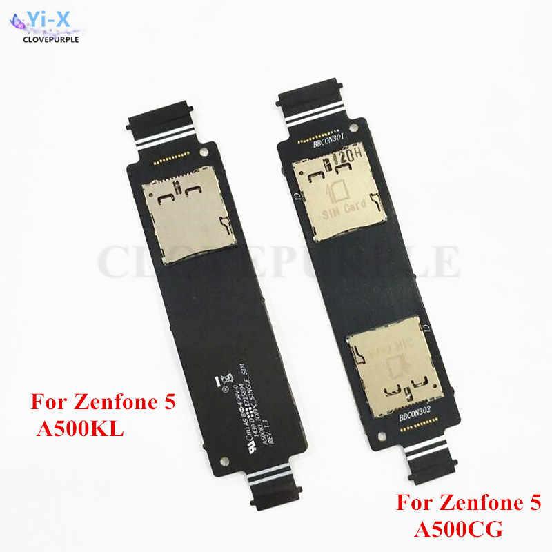 1 قطعة مزدوجة/واحد سيم حامل بطاقة مايكرو فتحة مقبس صينية فليكس كابلات لابتوب اسيوس Zenfone 5 A500CG/Zenfone 5 A500KL