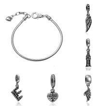 charms plata de ley 925 original bracelet jewelry valentine's day mary poppins bijoux sieraden piercing beads jewellery цена