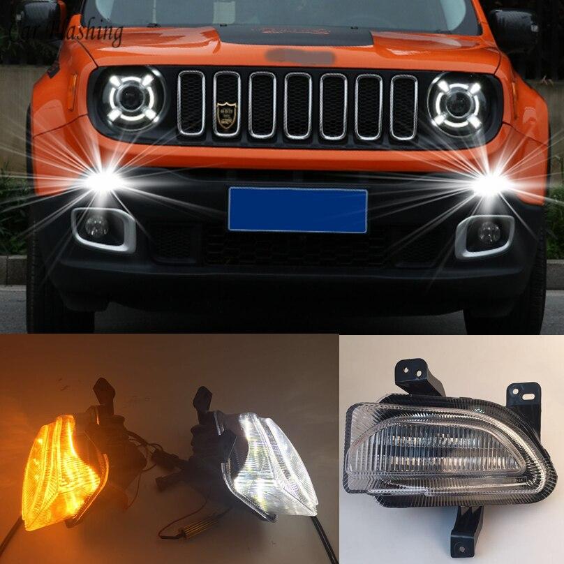 Car Flashing 1set For Jeep Renegade 2015 2018 Led Drl