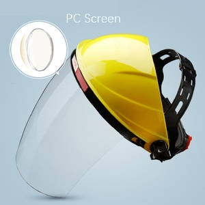 Image 5 - Safety Cutting Polish Mask Helmet Full face Protective Transparent PC Anti Chemical Oil Splash Dust UV Resistant Pesticide Spray