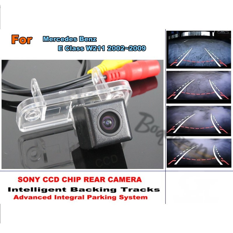 Smart Tracks Chip Camera For Mercedes Benz E W211 2002 2009 HD CCD Intelligent Dynamic Parking