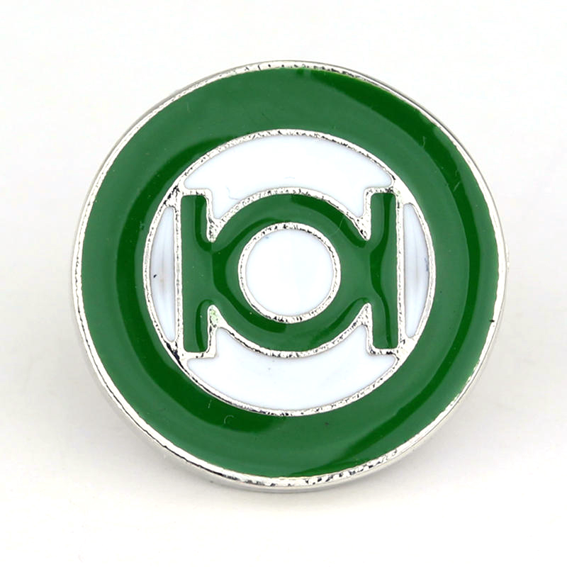DC Comics Justice League Green Lantern Drop Of Oil Chest Badge Pins Student Pack Clothes Brooches Broche Superhero BrocheJewelry ...