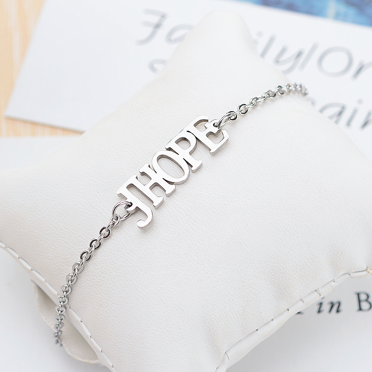 Careful Kpop Bts Bangtan Boys Army Jhope Name Letter Stainless Steel Bracelet Bangle Adjustable Bracelets For Jewelry Party Gifts