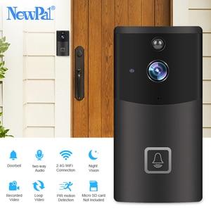 Image 1 - Wi fi campainha câmera de vídeo sem fio interfone visual chamada campainha da porta câmera de segurança em casa 720p carrilhão anel telefone da porta gravação ir