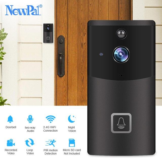 Wi fi campainha câmera de vídeo sem fio interfone visual chamada campainha da porta câmera de segurança em casa 720p carrilhão anel telefone da porta gravação ir