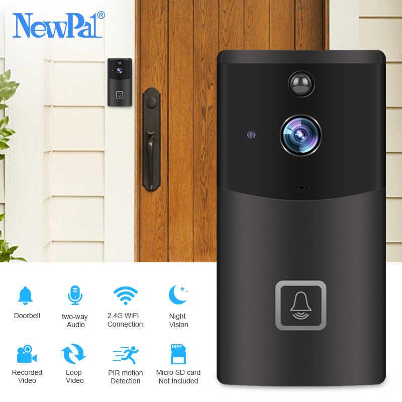 WiFi Doorbell Camera Wireless Video Intercom Visual Call Door Bell Camera Home Security 720p Chime Ring Door Phone IR Recording