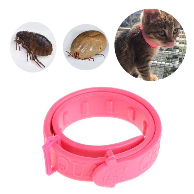 1pc Pet Dog Puppy Cats Kitten Acari Neck Strap Anti Flea Mite Tick Adjustable Collar