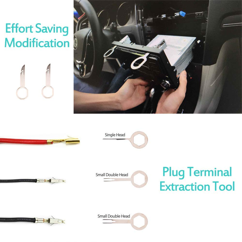 Image 3 - 19Pcs Trim Removal Tool Car Panel Door Audio Trim Removal Tool Kit Auto Clip Pliers Fastener Remover Tool Set-in Auto Fastener & Clip from Automobiles & Motorcycles