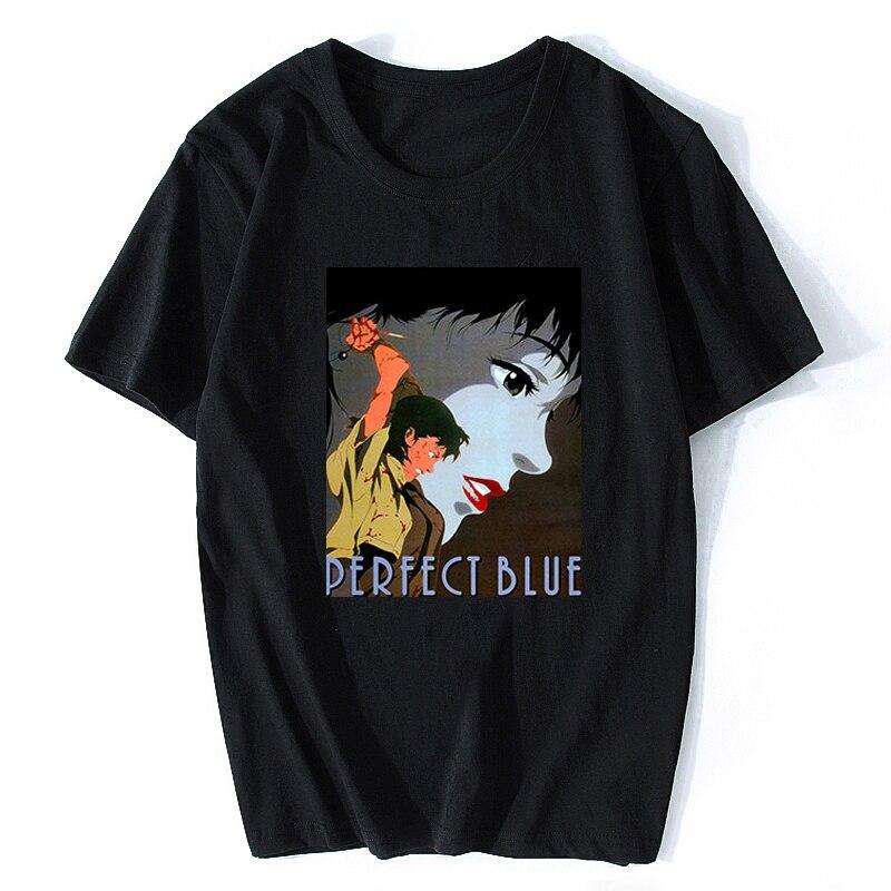 Perfect Blue Anime Japanese T-shirt Cotton Men T Shirt New 2019 Couple Loves Design Summer T-shirt Cotton Men Vintage T Shirt