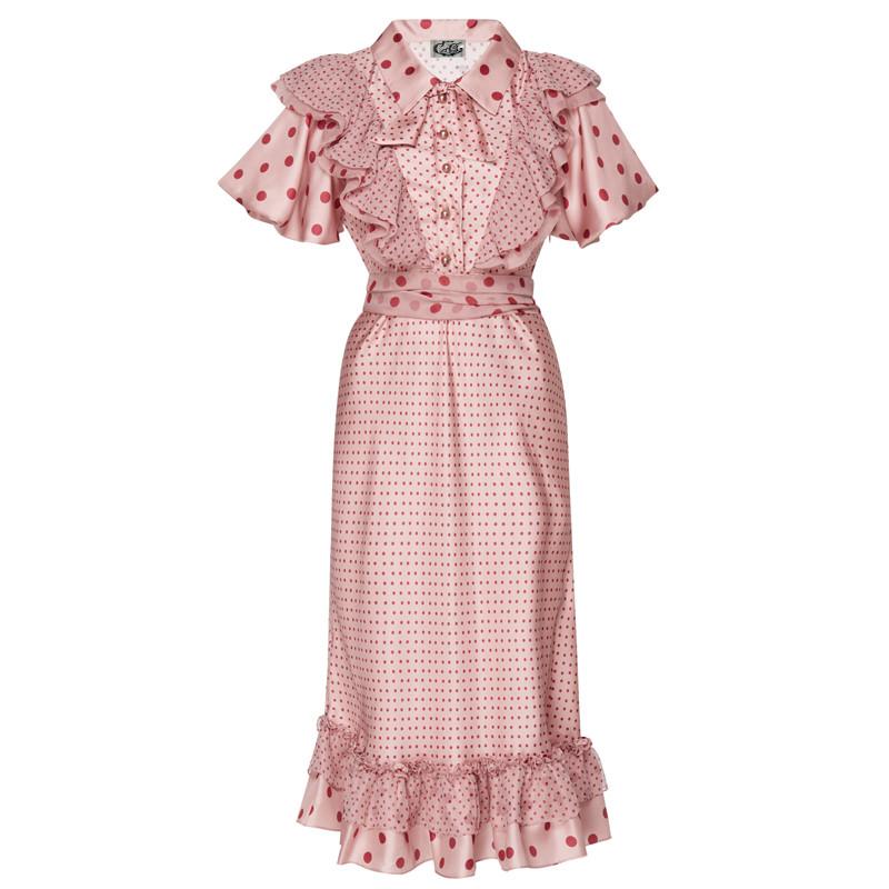 Runway-Designer-2018-Summer-Dress-Women-s-Party-Fashion-Girls-Boho-Beach-Pink-Vintage-Elegant-Chic